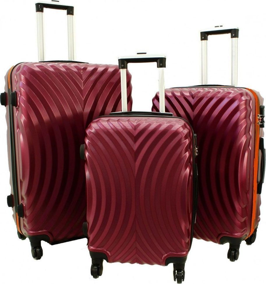 PELLUCCI Zestaw 3 walizek PELLUCCI RGL 760 Bordowo Pomarańczowe uniwersalny 1