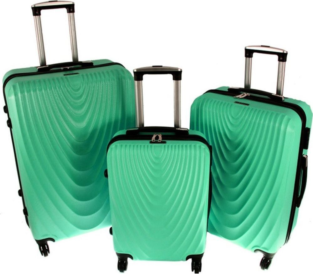 PELLUCCI Zestaw 3 walizek PELLUCCI RGL 663 Miętowe uniwersalny 1