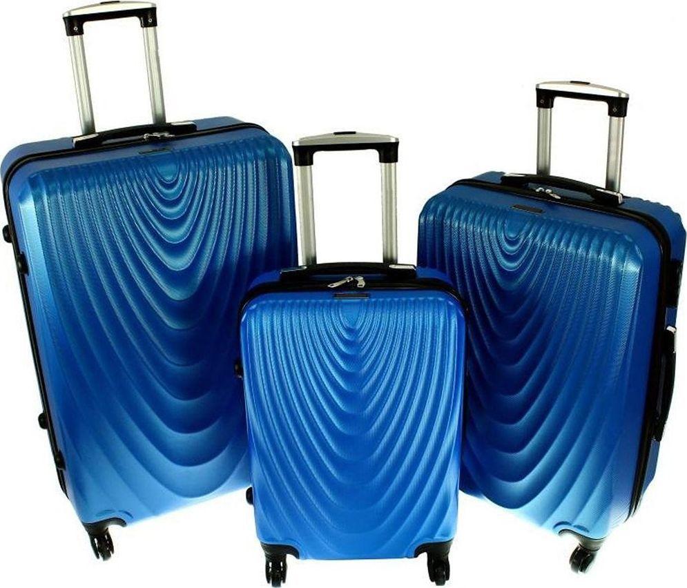 PELLUCCI Zestaw 3 walizek PELLUCCI RGL 663 Niebieskie uniwersalny 1