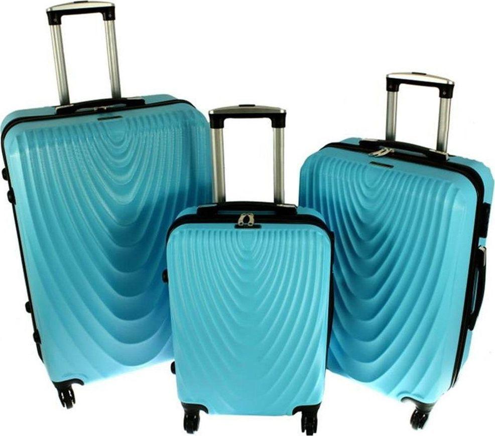 PELLUCCI Zestaw 3 walizek PELLUCCI RGL 663 Turkusowe uniwersalny 1