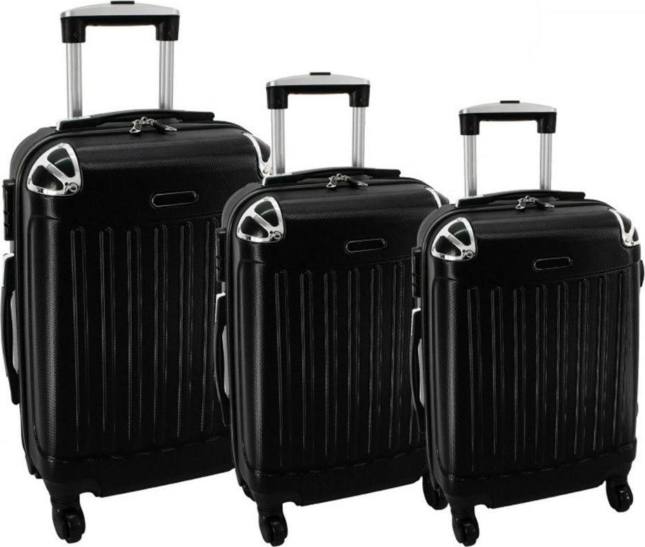 PELLUCCI Zestaw 3 walizek PELLUCCI RGL 735 Czarne uniwersalny 1
