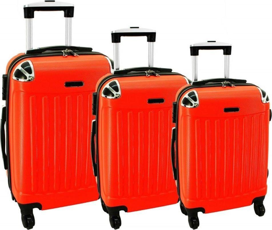 PELLUCCI Zestaw 3 walizek PELLUCCI RGL 735 Pomarańczowe uniwersalny 1