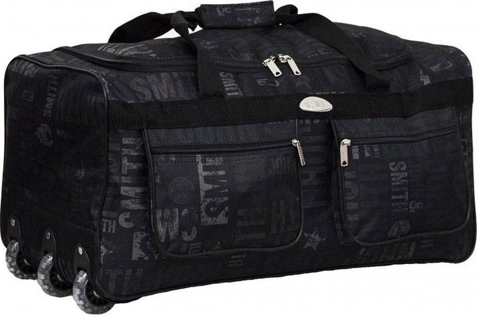 PELLUCCI Duża torba podróżna na kołach PELLUCCI RGL A4 Czarno Szara uniwersalny 1