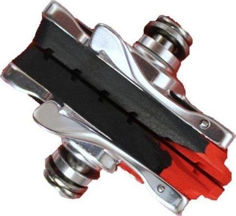 Clarks Klocki hamulcowe CLARK'S CPS472C SZOSA (Shimano, Campagnolo, Avid, Tektro, Warunki Suche i Mokre, Estetyczna obudowa CNC) 52mm czarno-czerwone uniwersalny 1