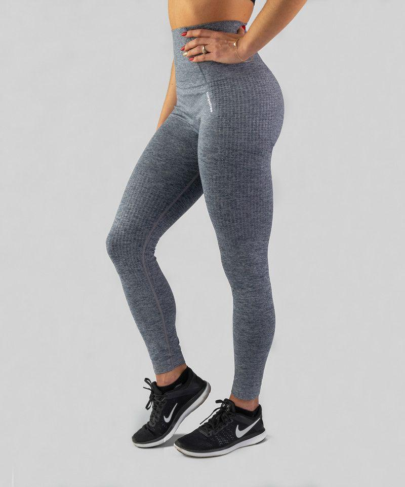 Carpatree Legginsy damskie Seamless Leggings Model One Grey r. M 1