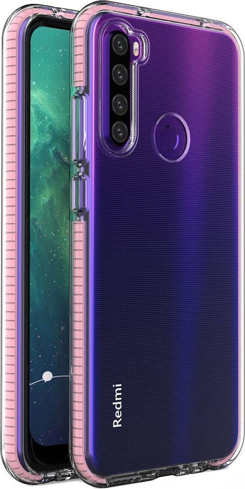 Hurtel Spring Case pokrowiec żelowe etui z kolorową ramką do Xiaomi Redmi Note 8T jasnoróżowy uniwersalny 1
