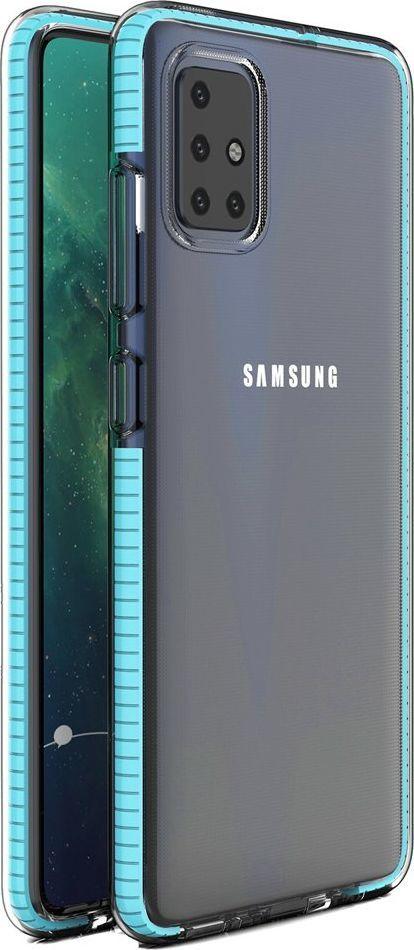 Hurtel Spring Case pokrowiec żelowe etui z kolorową ramką do Samsung Galaxy A51 jasnoniebieski uniwersalny 1