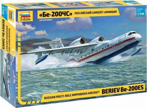 Zvezda Model plastikowy Beriev Be-200ES Multi role amphibious plane 1