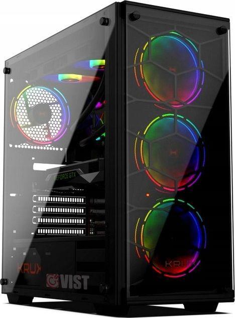 Komputer Vist Pro PC, Ryzen 5 3600, 16 GB, RTX 2060, 512 GB M.2 PCIe 2 TB HDD Windows 10 Pro 1
