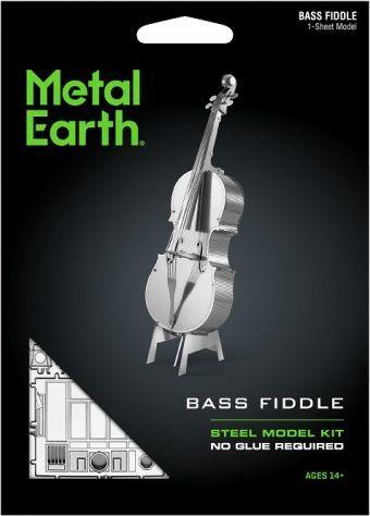 Metal Earth Metal Earth Bass Fiddle Kontrabas model do składania metalowy. 1