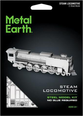 Metal Earth Metal Earth, Lokomotywa parowa model do składania metalowy. 1