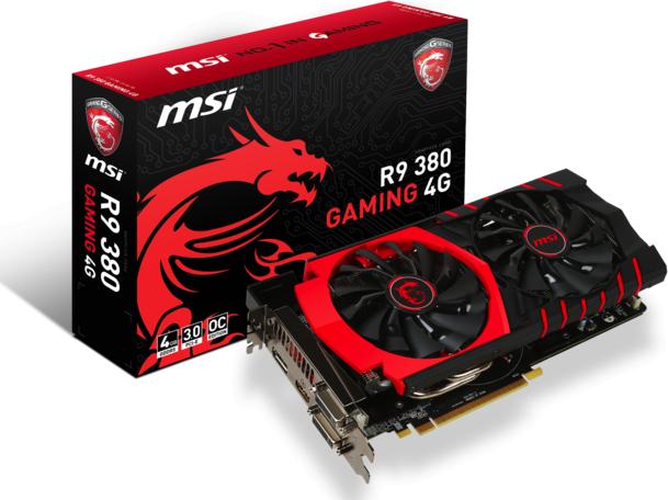 Karta graficzna MSI Radeon R9 380 4GB GDDR5 (256 bit) HDMI, 2xDVI, DP (R9 380 GAMING 4G) 1