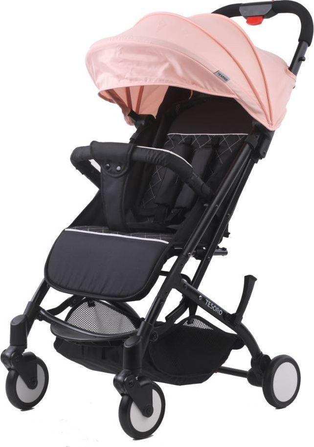 Wózek Tesoro spacerowy A8 Oxford black/Lotus pink 1