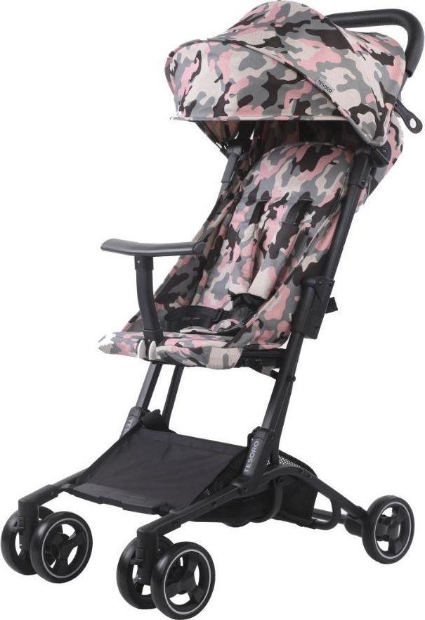 Wózek Tesoro spacerowy S900 Różowy kamuflaż 1