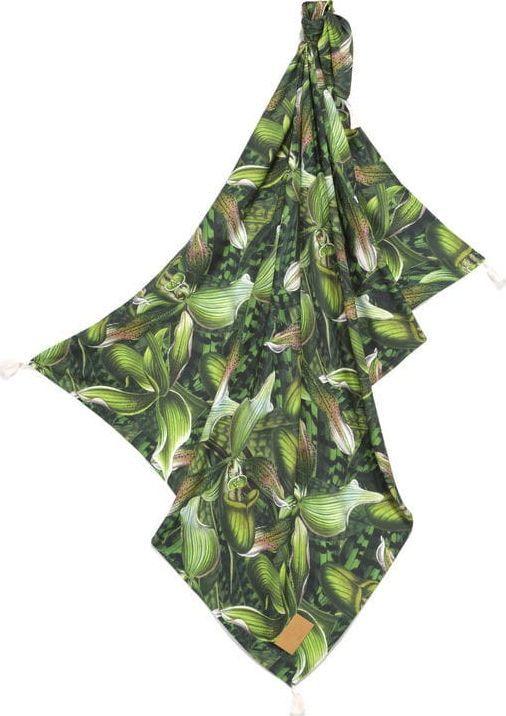 La Millou Verde Bambusowy Otulacz Mgiełka Fringe King Size by Marcin Tyszka La Millou 1