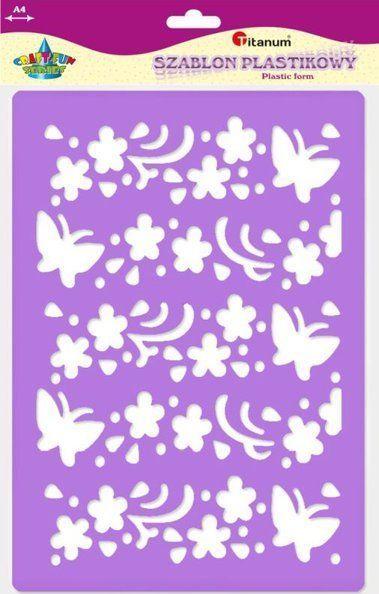 Titanum TITANUM Szablon A4 - Kwiaty i motyle większe 22923 uniw 1