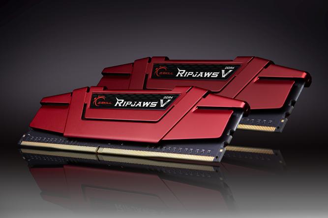 Pamięć G.Skill Ripjaws V, DDR4, 8 GB, 2400MHz, CL15 (F4-2400C15D-8GVR) 1