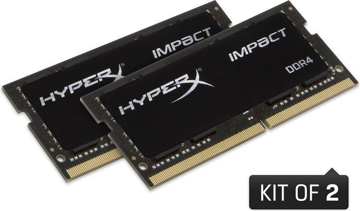 Pamięć do laptopa HyperX Impact DDR4, SO-DIMM, 16GB(2x8GB), 2400MHz, CL14, 1.2V (HX424S14IBK2/16) 1