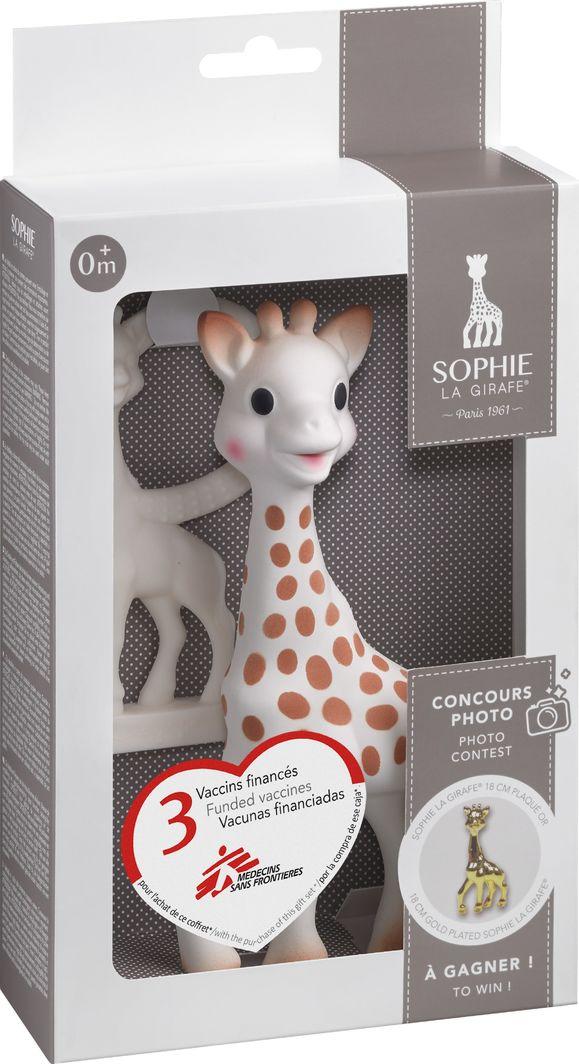 Sophie la Girafe Żyrafa Sophie + gryzak w kolorze kości słoniowej Sophie La Giraffe 1