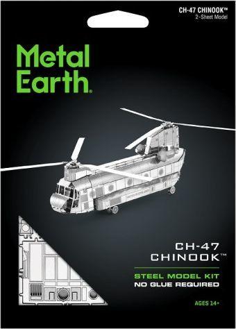 Metal Earth Metal Earth Helikopter CH-47 Chinook Śmigłowiec model do składania metalowy. 1