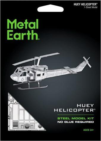 Metal Earth Metal Earth Helikopter Huey UH-1 Śmigłowiec model do składania metalowy. 1