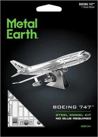 Metal Earth Metal Earth, Boeing 747 model do składania metalowy. 1