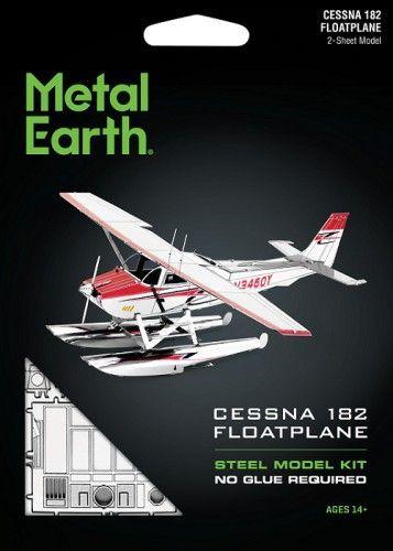 Metal Earth Metal Earth, Cessna 182 Floatplane Model Do Składania Metalowy 1