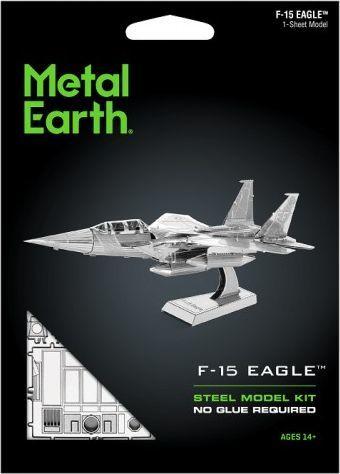 Metal Earth Metal Earth, F-15 Eagle F15 Myśliwiec model do składania metalowy. 1