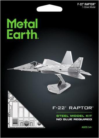 Metal Earth Metal Earth, F-22 Raptor F22 Myśliwiec model do składania metalowy. 1