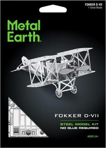 Metal Earth Metal Earth, Fokker D-VII Myśliwiec model do składania metalowy. 1