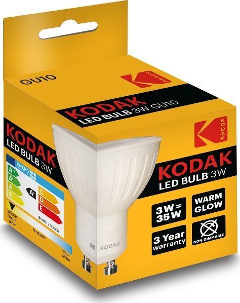Kodak Żarówka Led Kodak 3w / 35w Gu10 240lm 3000k 1