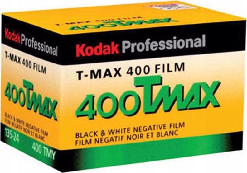 Kodak Film Klisza B&w Czarno-biały 35mm Kodak T-max 400 135 24 Zd 1