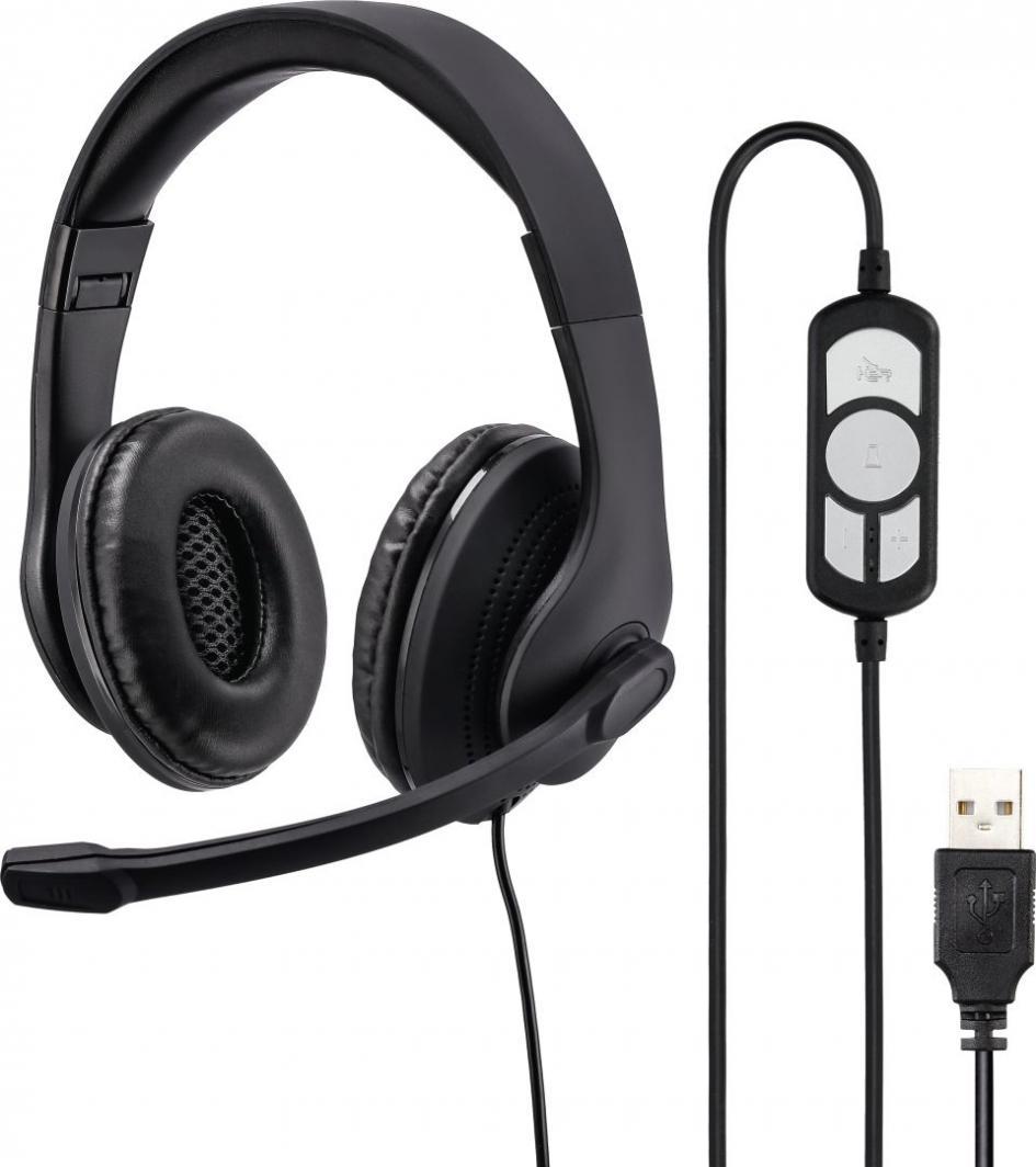 Słuchawki z mikrofonem Hama HS-USB300 1