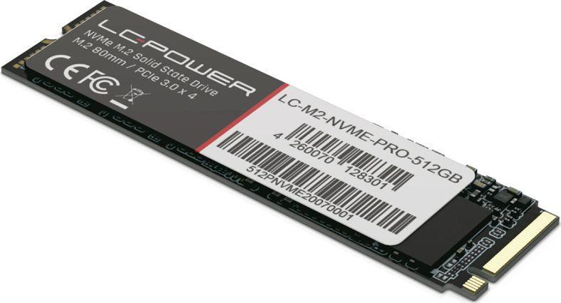 Dysk SSD LC-Power Phenom Pro 512 GB M.2 2280 PCI-E x4 Gen3 NVMe (LC-M2-NVME-PRO-512GB) 1