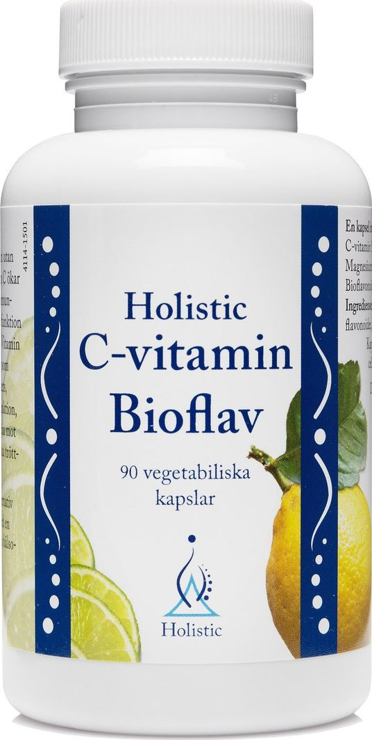 Holistic Holistic C-Vitamin Bioflav Witamina C Cytrusowe Bioflawonoidy Kwas Askorbinowy Łatwo Przyswajalny 1