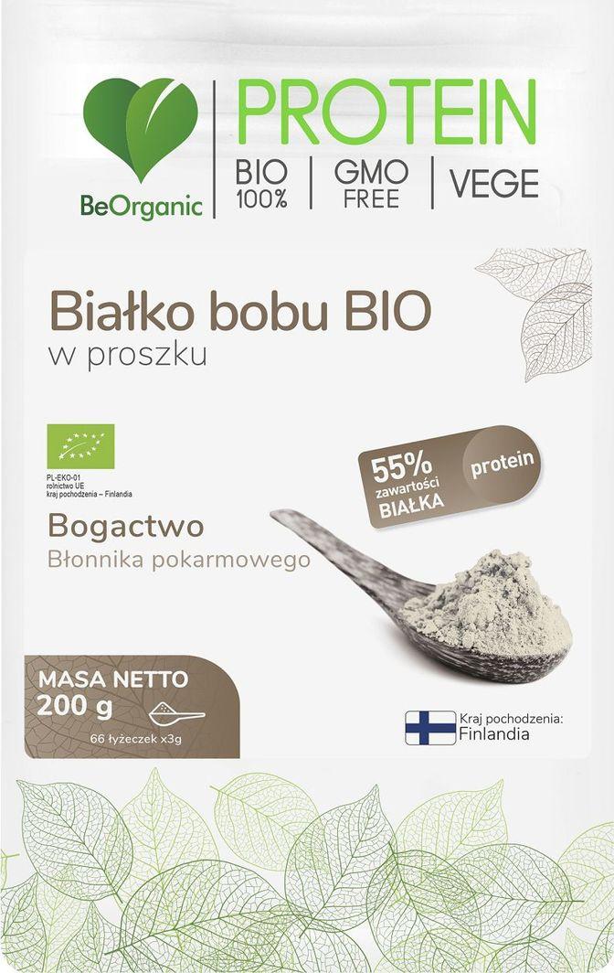 Beorganic Białko Bobu Bio W Proszku 200G Beorganic Bogactwo Błonnika Pokarmowego 1