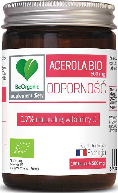 Beorganic Acerola Bio 500Mg 100 Tabletek Beorganic Medicaline Witamina C Malpigia Granatolistna Malpighia Glabra 1