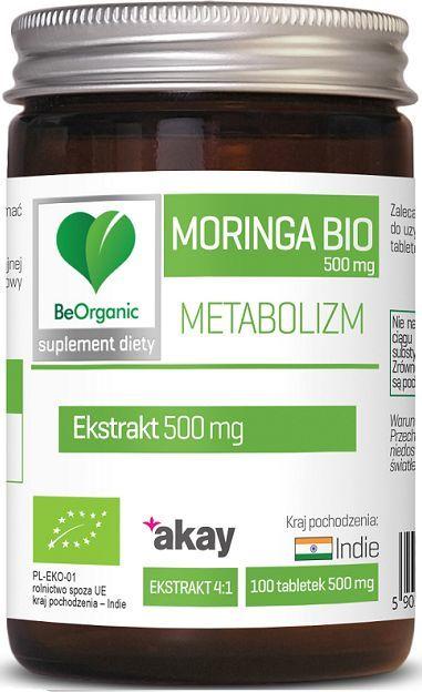 Beorganic Moringa Bio 500Mg 100 Tabl. Beorganic Medicaline Moringa Olejodajna Moringa Oleifera 1