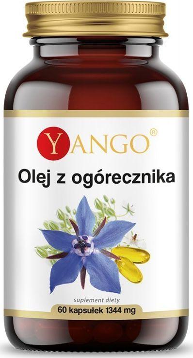 Yango Olej Z Ogórecznika 1344 Mg 60 Kaps. Yango Gla Kwas Gamma-Linolenowy Borago Officinalis 1