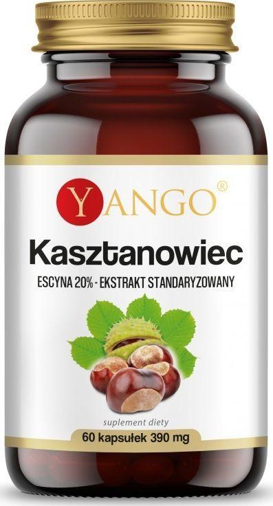 Yango Kasztanowiec 20% Escyny 390Mg 60 Kapsułek Yango Horse Chestnut 1
