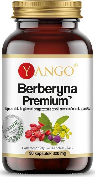 Yango Berberyna Premium 90 Kaps. Yango Ekstrakt Z Korzenia Berberysu Berberis Aristata Ostropest Plamisty Silybum Marianum 1