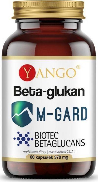 Yango Beta Glukan M-Gard 60 Kaps. Yango Biotec Betaglucans Beta-1,3/1,6-D-Glukan Saccharomyces Cerevisiae 1