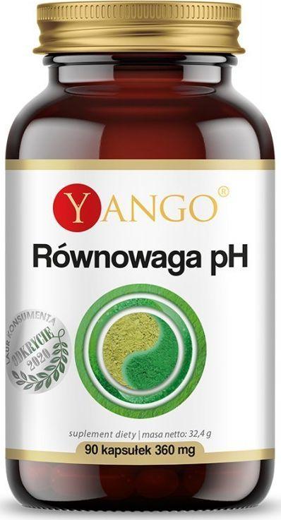 Yango Równowaga Ph 90 Kaps. Yango Gotu Kola Cynk Lucerna Traganek Spirulina 1