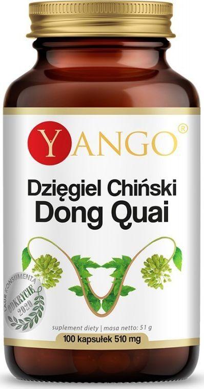 Yango Dzięgiel Chiński Dong Quai 100 Kapsułek Yango Ekstrakt Z Korzenia Kłącza Dzięgla Chińskiego Angelica Sinensis 1