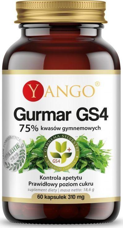 Yango Gurmar Gs4 75% Kwasów Gymnemowych 60 Kapsułek Yango Gymnema Sylvestre 1