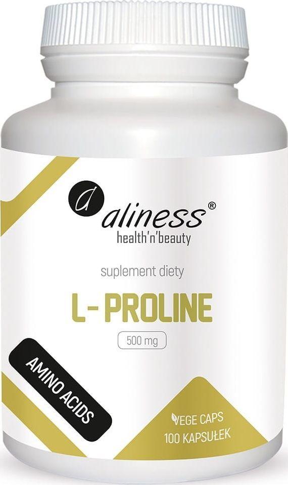 Holistic L-Proline 500Mg 100 Kaps. Aliness L-Prolina 1
