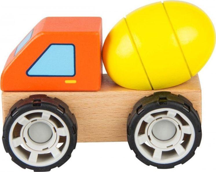iWood Klocki drewniane samochód Betoniarka 1