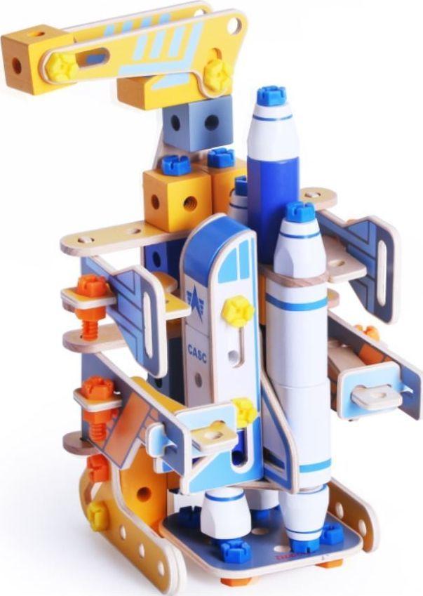 iWood Klocki drewniane konstrukcyjne Kosmoport 1