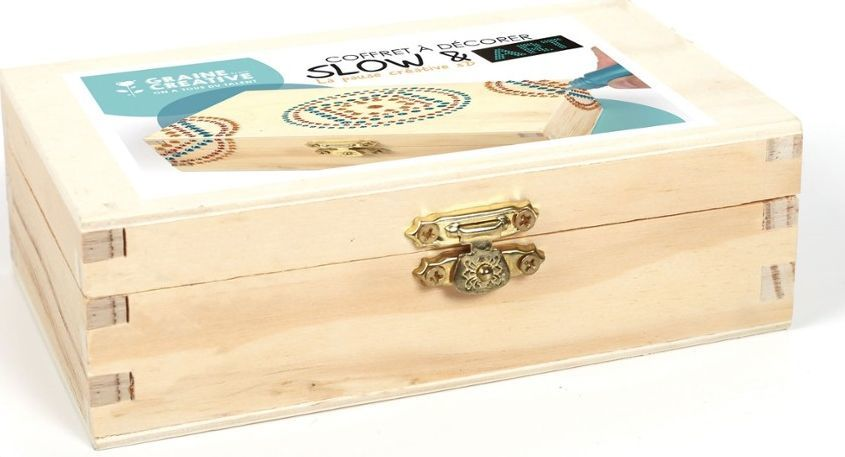 Graine Creative Malowanie kropkami na drewnianym pudełku 1