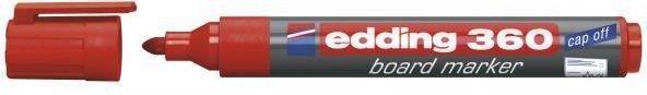 Edding Marker suchościeralny do tablic 360 czerwony (EG1049) 1